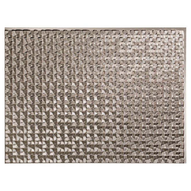 Backsplash Panel - Terrain - PVC - Brushed Aluminum
