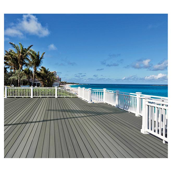 planche pour terrasse composite 16 39 gris argent rona. Black Bedroom Furniture Sets. Home Design Ideas