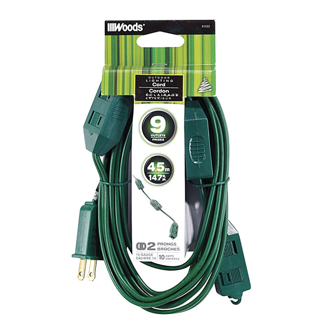 9-Outlet Outdoor Electric Cord
