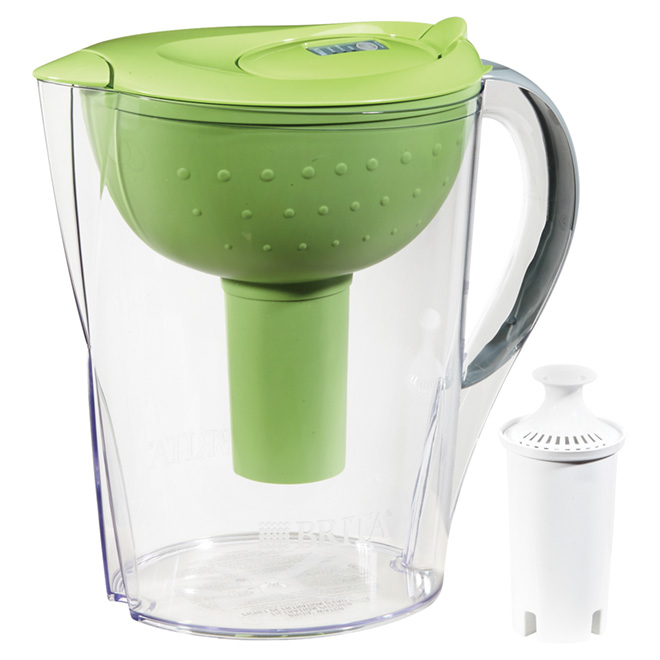Water Pitcher with Filter - 10 Cups - Green/Clear