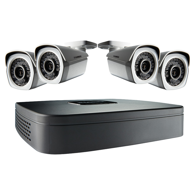 Security System - Indoor/Outdoor - 4 Ch - 1080 - 1TB