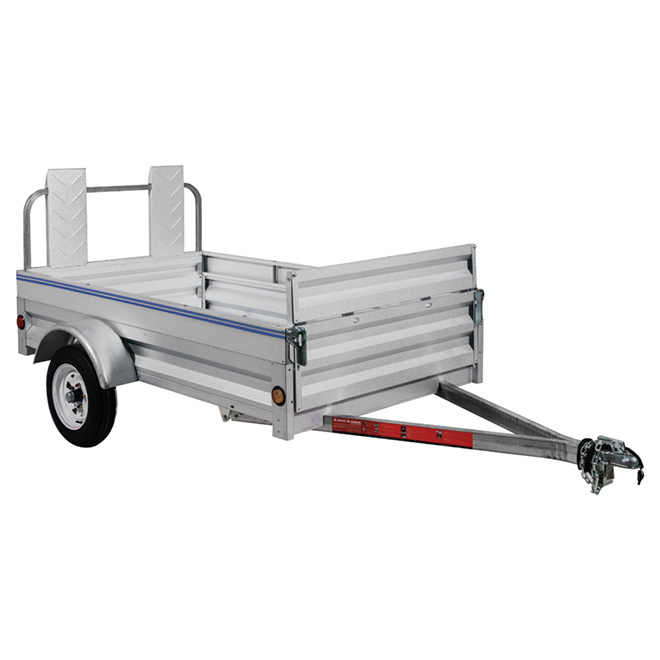 Galvanized Steel Expandable Trailer - 4' x 8'