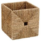 Folding Storage Basket - Seagrass - 21.1 L - Brown
