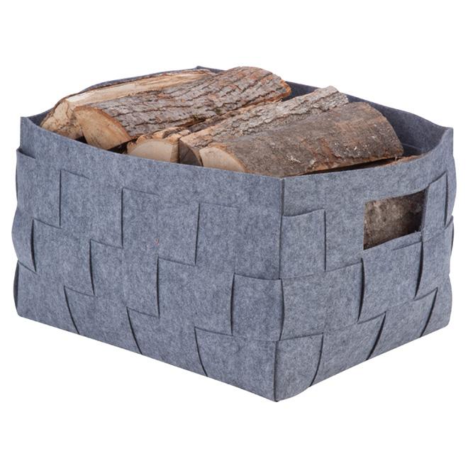 extra large storage bin woven felt 65 7 l grey rona. Black Bedroom Furniture Sets. Home Design Ideas