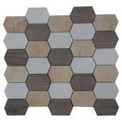 Marble Wall Tiles - Stone Mosaic - 5/Box