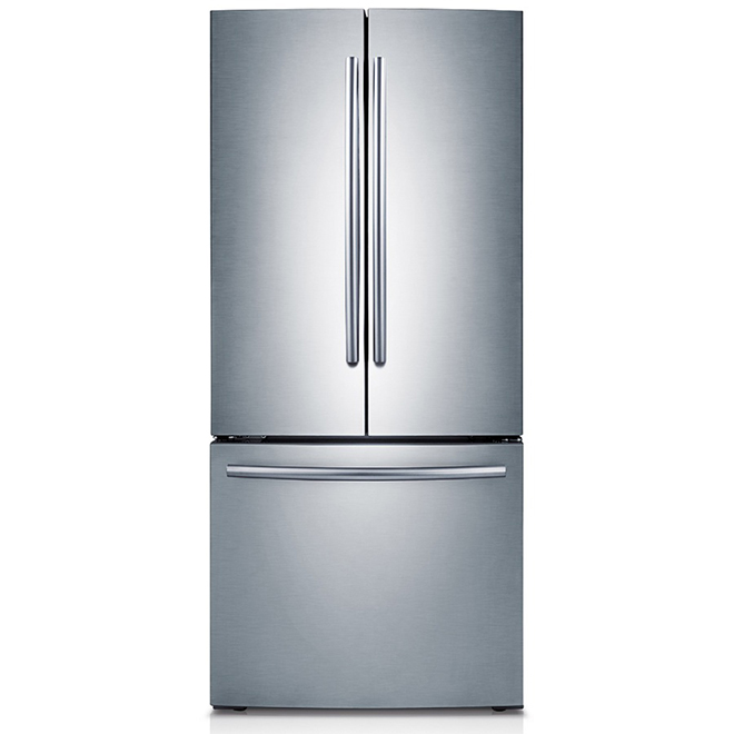 "French Door Refrigerator - 30"" - 21.6 cu. ft. - Steel"