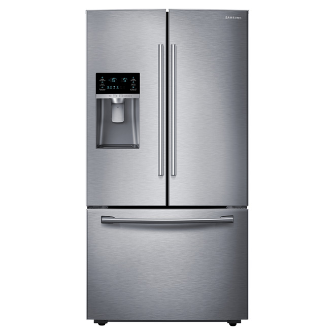 "French Door Refrigerator - 36"" - 22.5 cu. ft. - Steel"