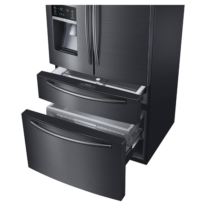 "French Door Refrigerator - 33"" - 24.7 cu. ft. - Black Steel"