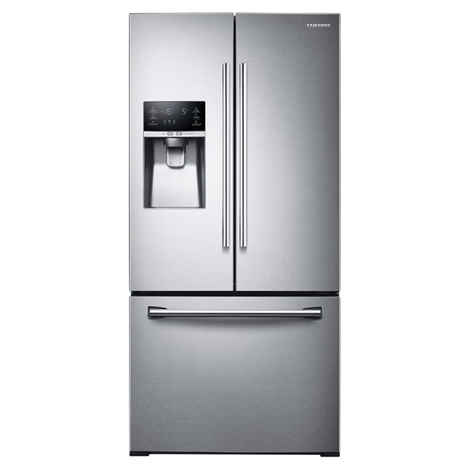 French Door Refrigerator 33 Quot 25 5 Cu Ft Steel Rona