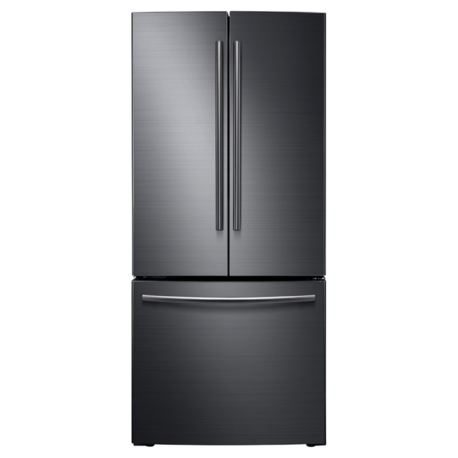 "French Door Refrigerator - 30"" - 21.6 cu. ft. - Black Steel"