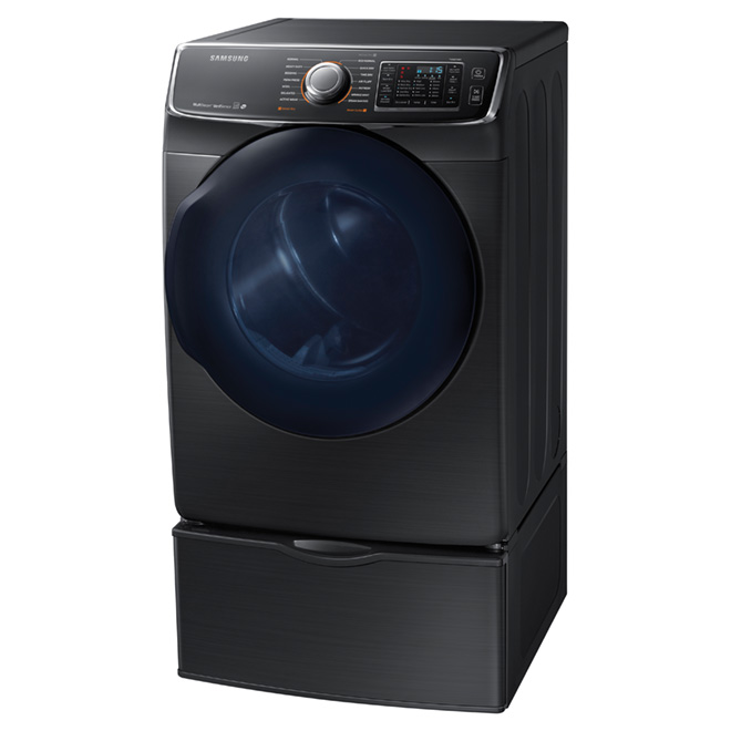 Electric Dryer with MultiSteam(TM) - 7.5 cu.ft.-Black Steel