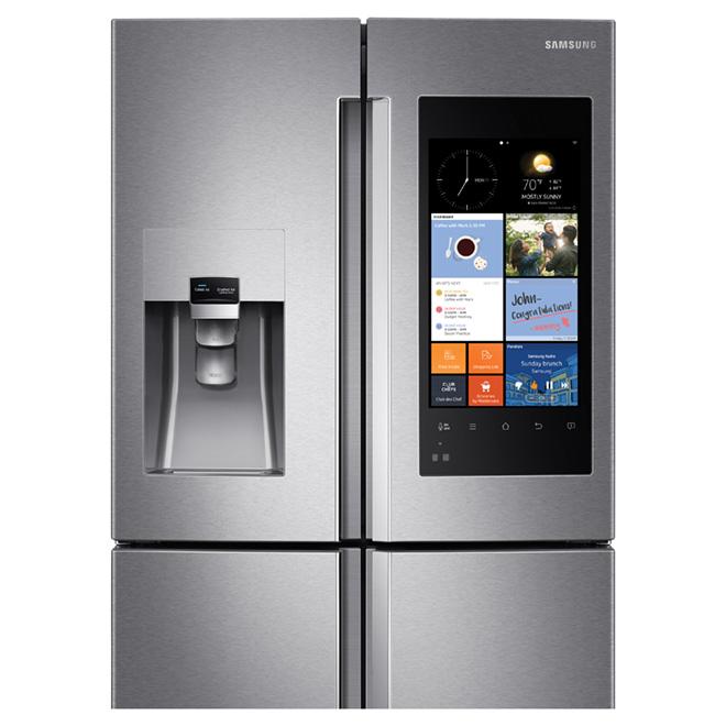 samsung refrigerator touch screen. family-hub(tm) refrigerator -touch screen -28 cu. ft. samsung touch