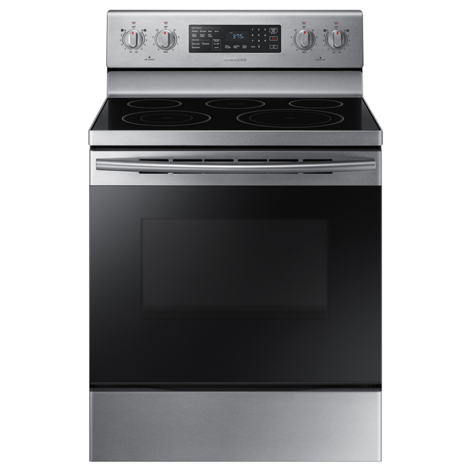 electric range 59 cu ft stainless steel