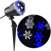 Laser Light Projector - Snow Flurry - White/Blue