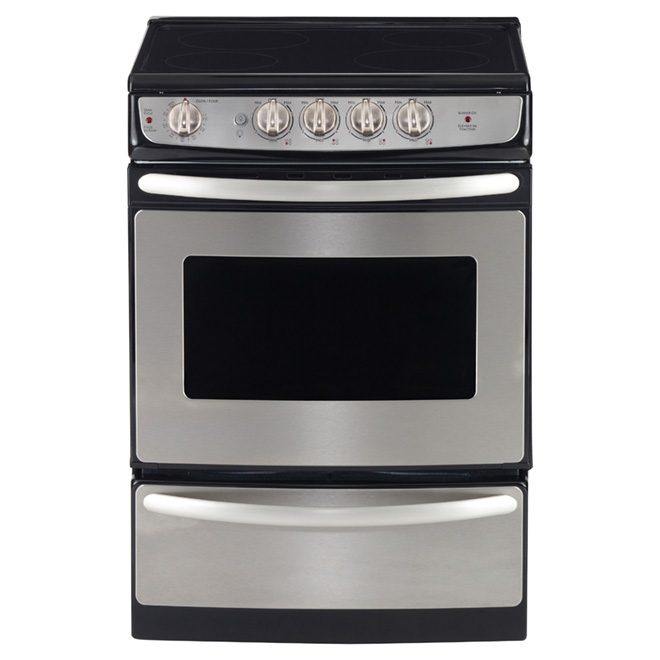 "Slide-In Electric Range - 24"" - 3 cu. ft. - Stainless Steel"