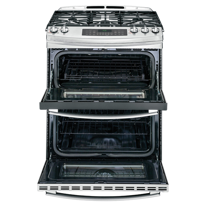 Slide-in Gas Range - Double Oven - 6.8 cu. Ft. - Stainless