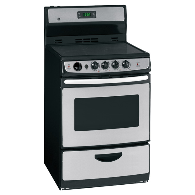 "Freestanding Electric Range 24"" - 3 cu.ft. - Stainless Steel"