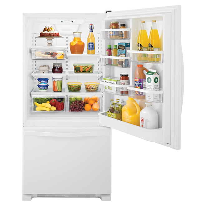 "Bottom-Freezer Refrigerator - 30"" - 19 cu. ft. - White"