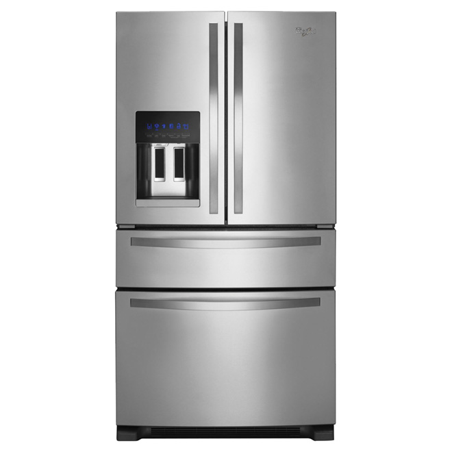 "French Door Refrigerator - 36"" - 25 cu. ft. - Steel"