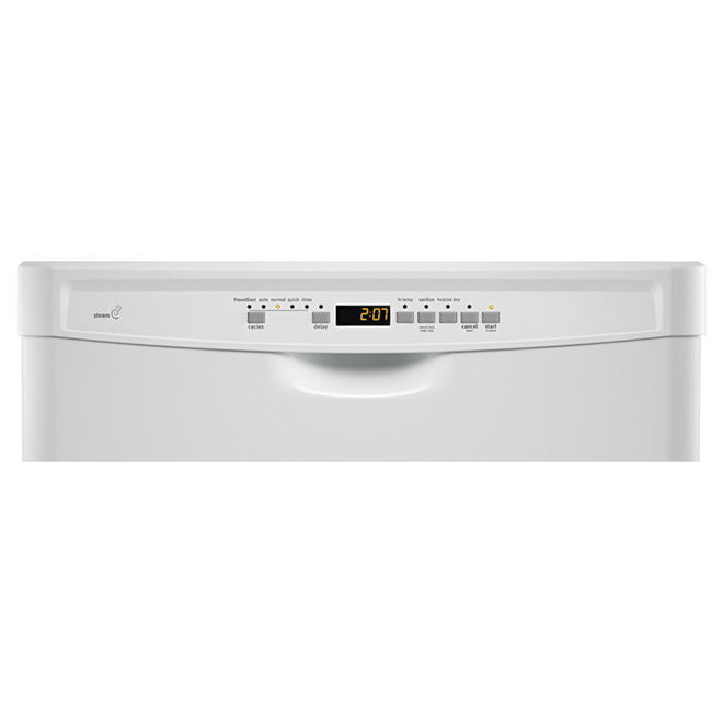 "24"" Powerful Dishwasher With Chopper - White"