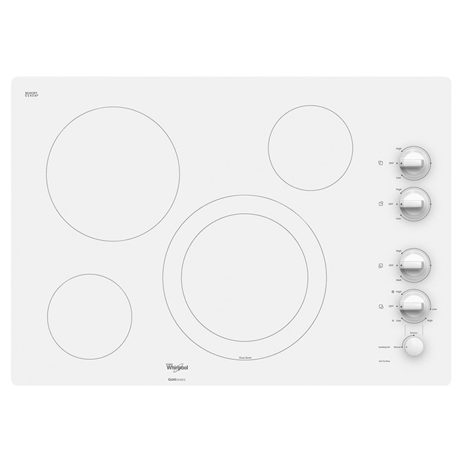 "30"" Electric Built-in Cooktop - Pure White"