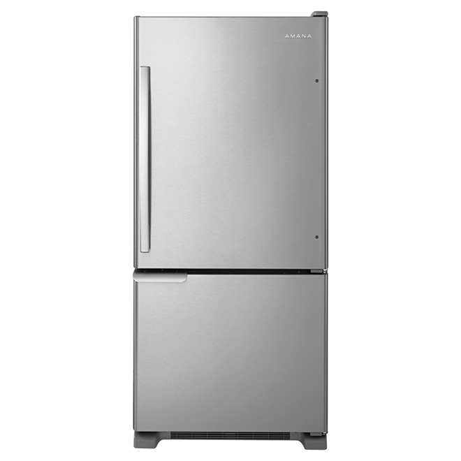 "Bottom-Freezer Refrigerator 30"" - 18 cu. ft. - Steel"