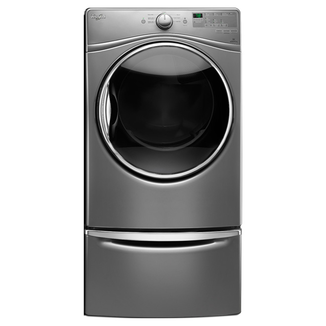 7.4 cu. ft. Dryer with WrinkleShield(TM)™ - Chrome Shadow