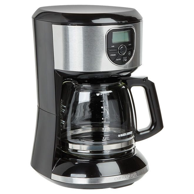cafeti re programmable panier filtre carafe 12 tasses rona. Black Bedroom Furniture Sets. Home Design Ideas
