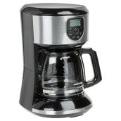 Programmable Coffee Maker - Filter Basket/Carafe - 12 Cup