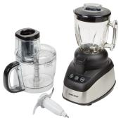 2-in-1 Food Processor - Power Pro - 10 Cup -  Black/Silver