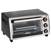 4-Slice Toaster Oven - Black/Silver