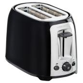 2-Slice Wide-Slot Toaster with Bagel Setting - Black