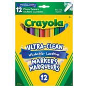 Crayola Washable Markers - Fine Tip - 12 Pack