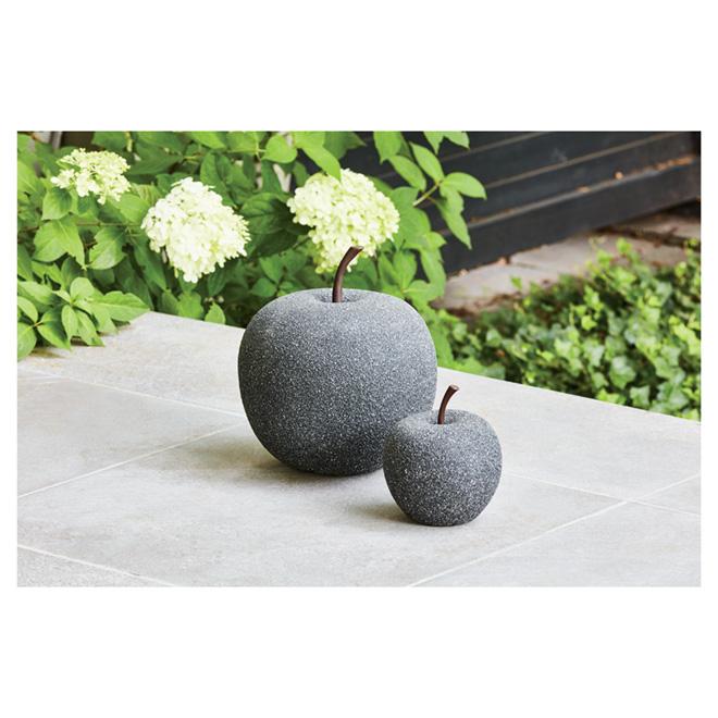 pomme d corative de jardin 14 pierre noire rona. Black Bedroom Furniture Sets. Home Design Ideas
