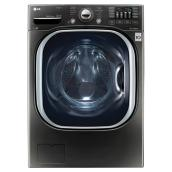 Washer with Steam and TurboWash(R)- 5.2 cu. ft. -Black Steel