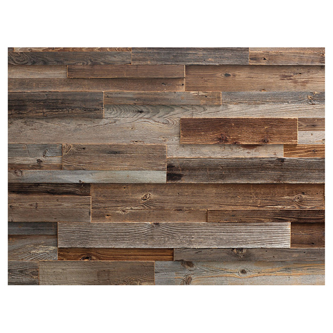 "Wood Panel - Real Barn Wood - 2"" to 10"" - Brown"