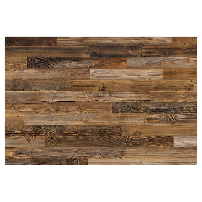 wood panel real barn wood 2 to 10 brown rona. Black Bedroom Furniture Sets. Home Design Ideas