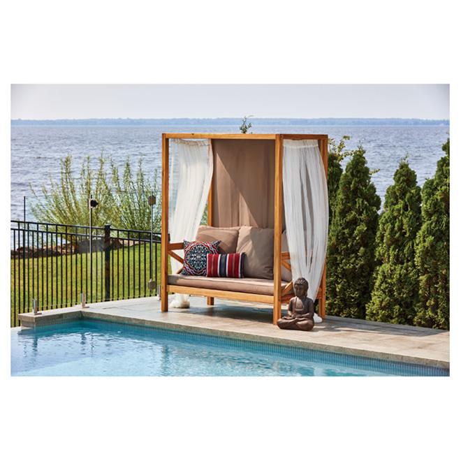 lit de jour pour patio rio bois d 39 acacia acacia taupe rona. Black Bedroom Furniture Sets. Home Design Ideas