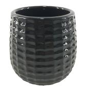 Glazed Clay Pot - Textured Design - 4
