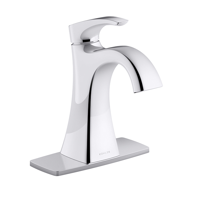 robinet de salle de bain maxton 1 poign e chrome poli rona. Black Bedroom Furniture Sets. Home Design Ideas