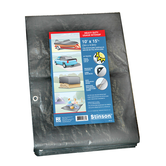Heavy-Duty Tarp - 10' x 15'