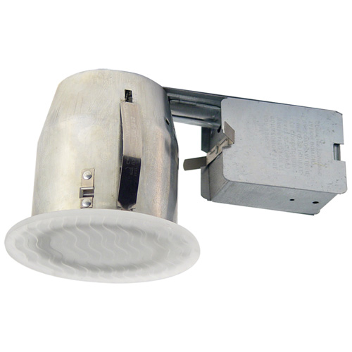 "Recessed Fixture - 4 1/8"" - Steel/Glass - White"