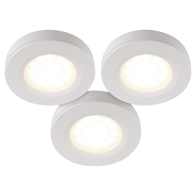 Under-Cabinet LED Puck Lights - 3-Pack