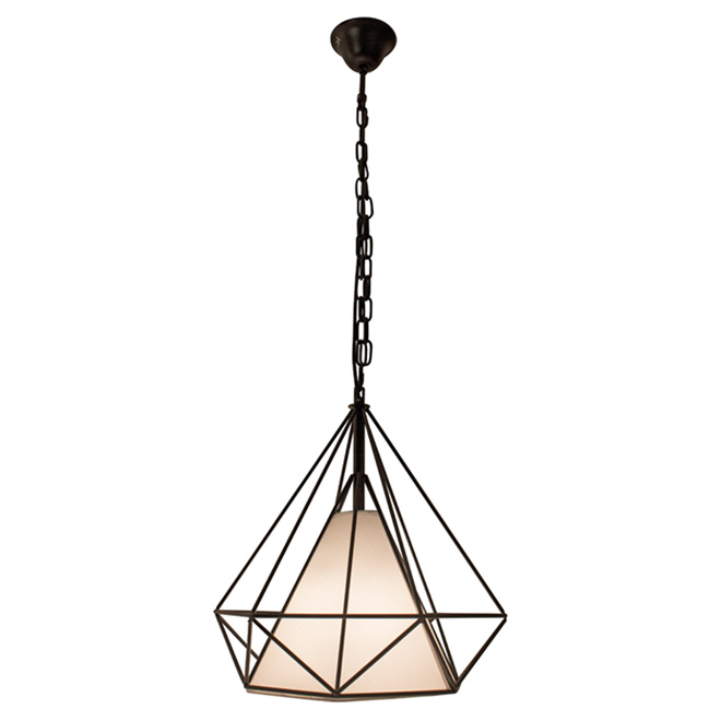 luminaire suspendu 14 po 1 lumi re vesta noir mat rona. Black Bedroom Furniture Sets. Home Design Ideas