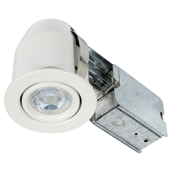 Directional Recessed Light - MINI - 7W LED - Matte White