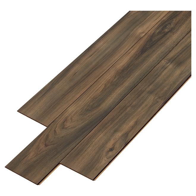 Laminate flooring drop loc 10 mm hickory 8 pack rona for Loc laminate flooring