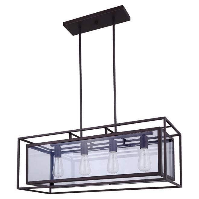 Isola 4 light pendant light rona for Home depot luminaire suspendu interieur