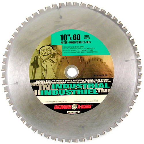 "Miter Saw Blade - 60-tooth - 10"" - Steel/Carbide"