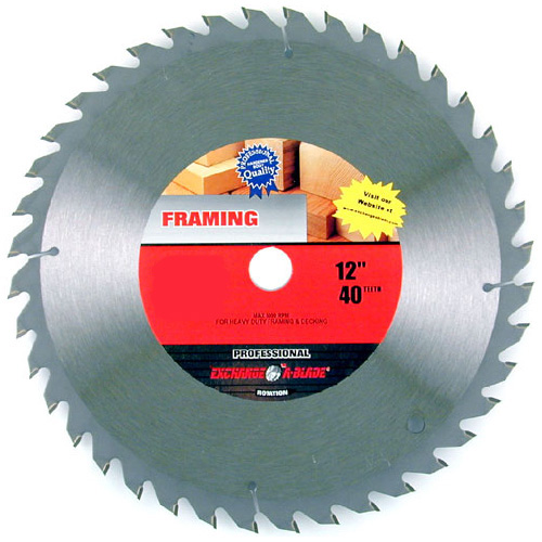 "Framing Circular Saw Carbide Blade - 12"" - 40TH"