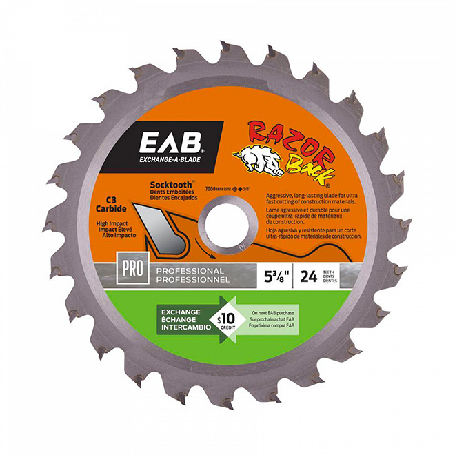 """Ultra-Thin"" Saw Carbide Blade - 5 3/8"" - 24TH"
